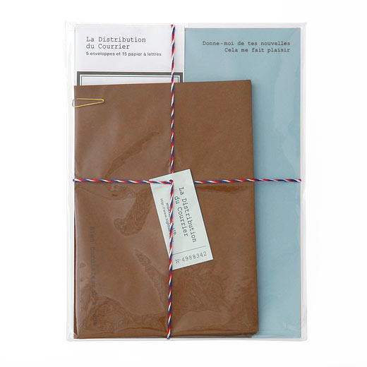 Courier Letter Writing Set - Blue