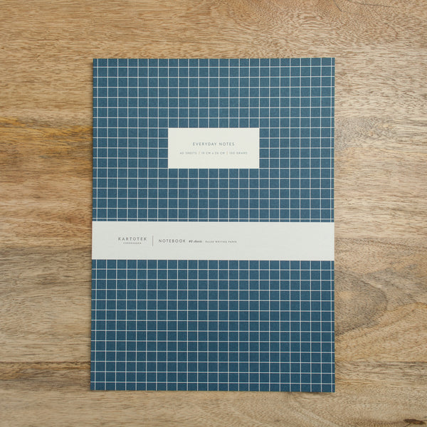 Large Check Notebook - Dark Blue