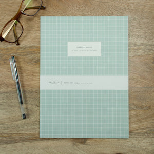 Large Check Notebook - Light Blue