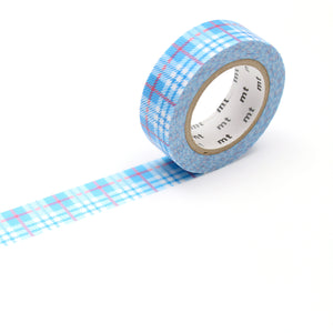MT Check Light Blue Washi Tape
