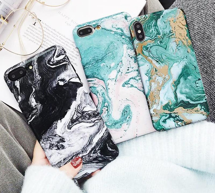 oil painting Marble Case For iphone