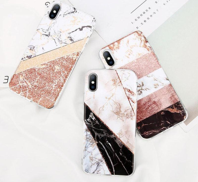 Glitter Powder Marble Case For iPhone