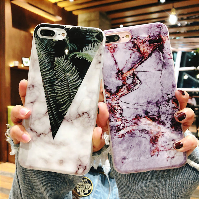 Luxury Marble Stone Case For iPhone