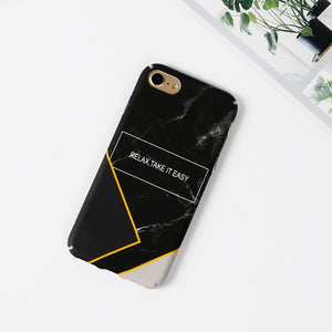 """Relax"" marble Cases For iPhone"