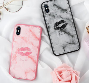 Marble Leather Lovely Soft Case for iPhone