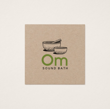 Sound Bath, Tibetian Singing Bowls Business Cards