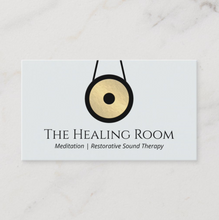 Sound Therapy Logo Business Card