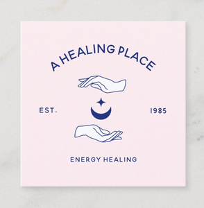 healing hands star and moon business card  by Maura Reed- Logo Evolution