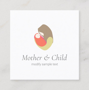 Midwife, Doula, Midwifery Logo Business card  - Logo Evolution. Maura Reed
