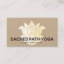 Simple Gold Golden Lotus  Business card - Logo Evolution -by Maura Reed