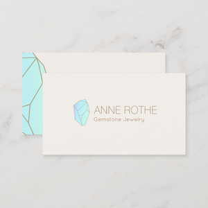 Blue Gemstone  Crystal  Business Cards - Logo Evolution