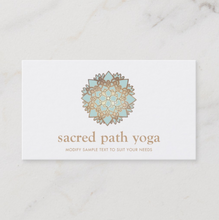 Blue Lotus Mandala Yoga Teacher  Business Card -Maura Reed, Logo Evolution