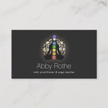Chakra Yoga Teacher Pose  Business card by Maura Reed- Logo Evolution