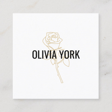 Rose Illustration, drawing Beauty business card  - Logo Evolution, Maura Reed