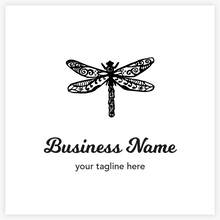 Unique Artistic Vector Dragonfly Premade Logo  by Maura Reed - Logo Evolution
