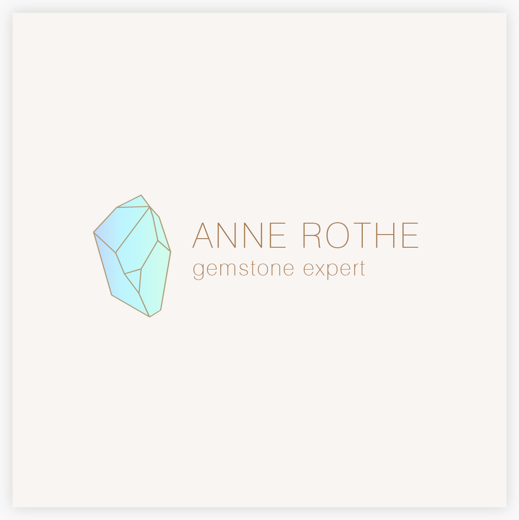 Blue Crystal Gemstone Premade Logo  - Logo Evolution