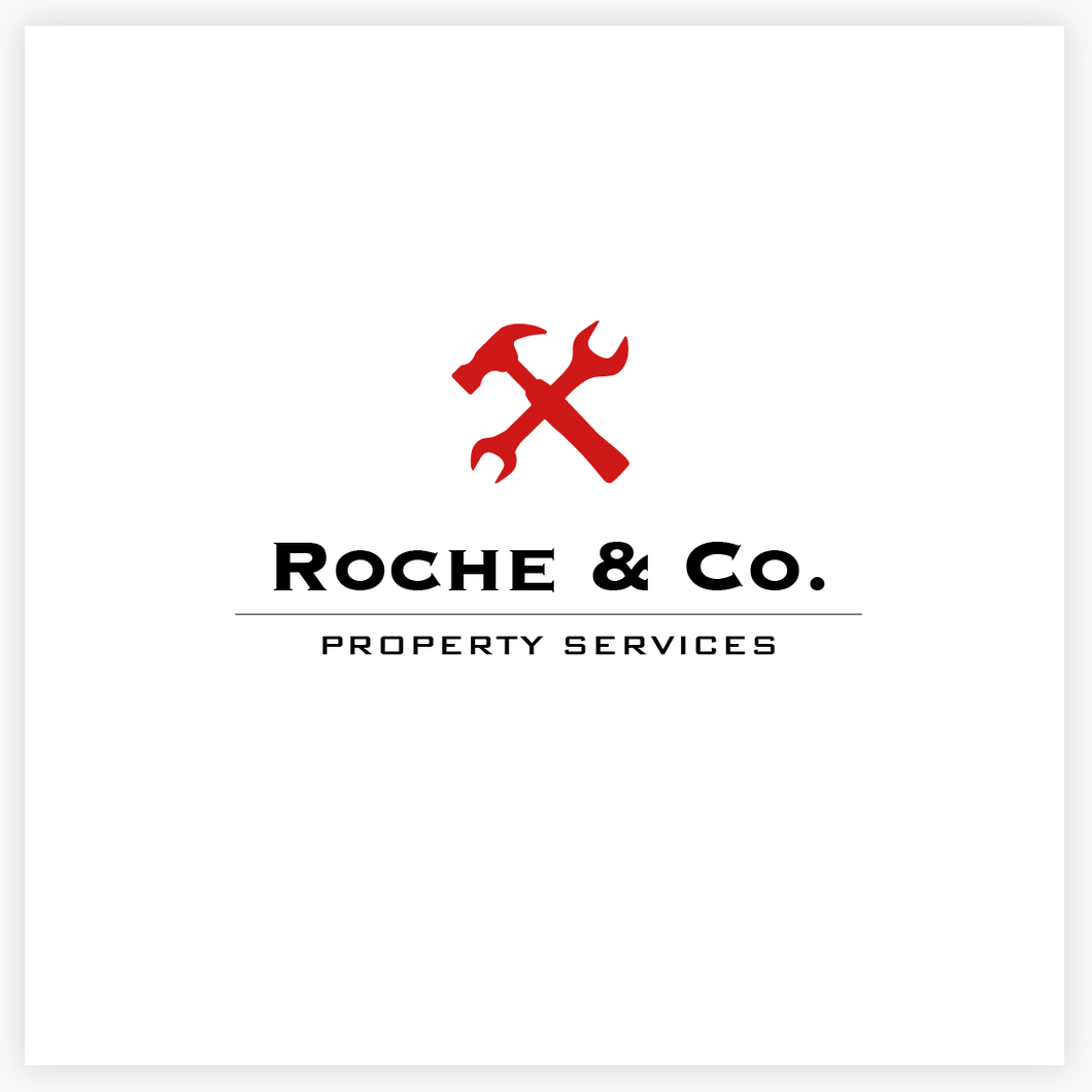 Cool Modern Red Hammer and Wrench Premade Logo by Maura Reed - Logo Evolution