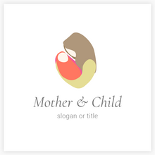 Mother and Infant  - Mother Holding Infant Midwife Doula Premade Logo _ Logo Evolution, Maura Reed- Logo Evolution