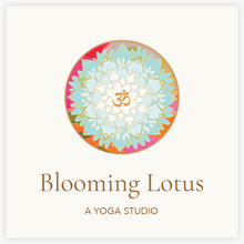Beautiful Floral Lotus Mandala Logo with OM symbol in the center  - Logo Evolution