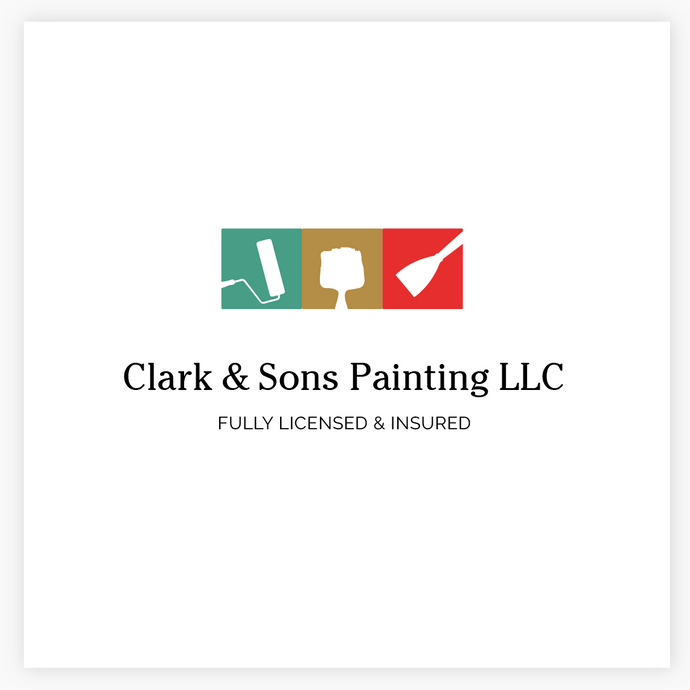 House Painter Premade Logo -by Maura Reed, Logo Evolution