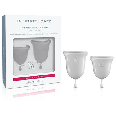 Jimmyjane Intimate Care Menstrual Cups Clear