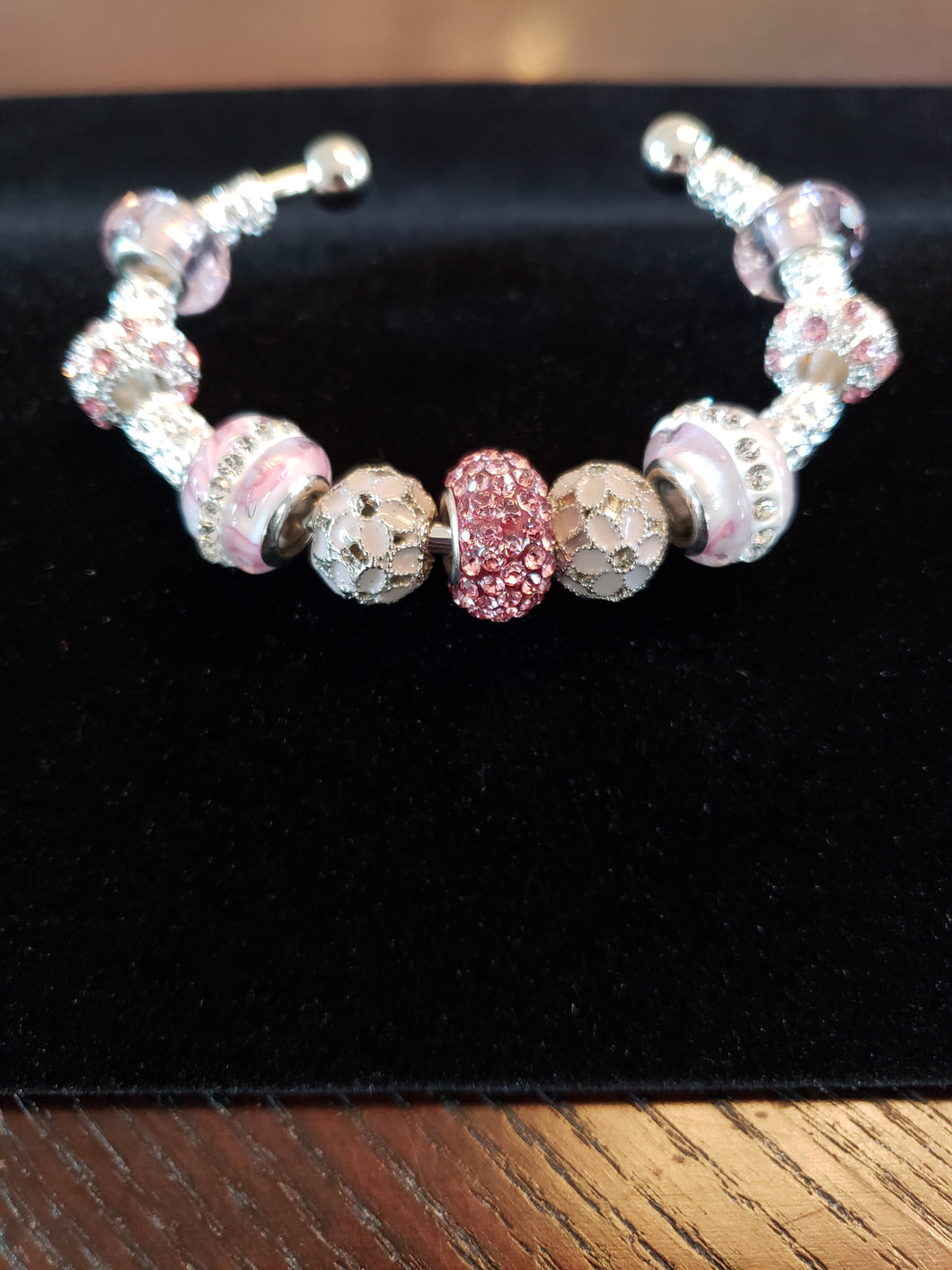 Pink & Silver with Crystals