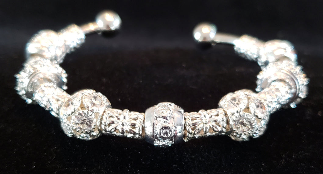 Silver with Crystals Bracelet