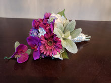 Purple and Wine Hand Tied Bouquet