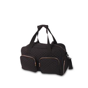 GRAB IT & GO FITNESS TRAVEL DUFFEL BAG- BLACK QUILTED