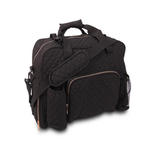 Load image into Gallery viewer, GRAB IT & GO FITNESS TRAVEL DUFFEL BAG- BLACK QUILTED