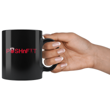 Load image into Gallery viewer, POSHnFIT Signature Collection- Blk Mug