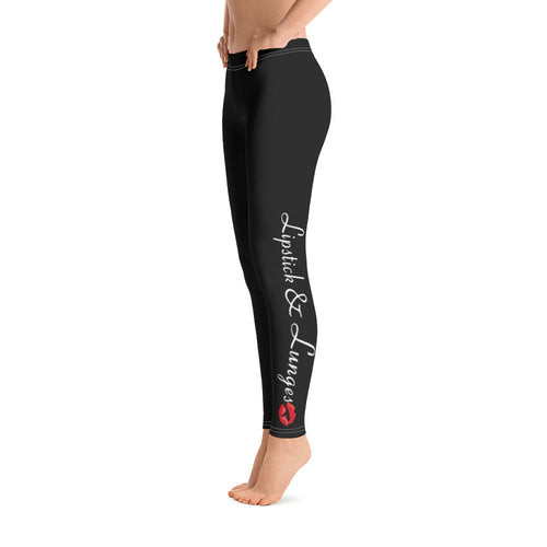 LIPSTICK & LUNGES Leggings