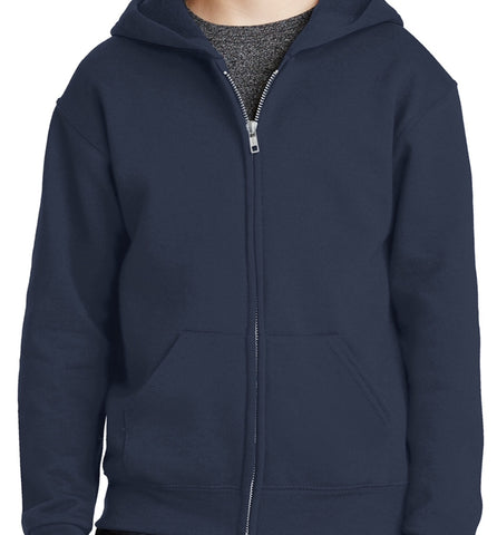 Full Zip Hooded Sweatshirt W/ Logo