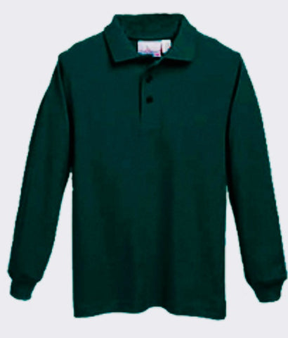 AP Long Sleeve Polo W/ Logo