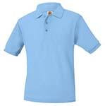 Lt Blue Girls Cut Polo