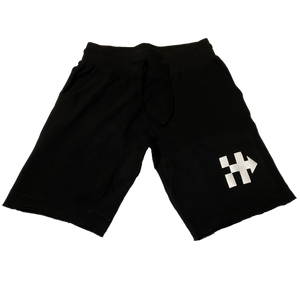 HITTAZ WAY 🏁 SHORTS (BLACK/WHITE)