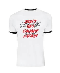 WHITE BLACK RED HONDA RETRO FITTED TEE