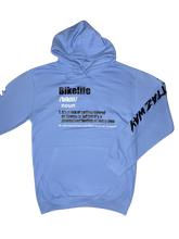 Load image into Gallery viewer, SKY BLUE BIKELIFE DEFINITION HOODIE