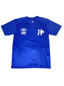 RIDING OR HIDING DRI-FIT TEE YAMAHA BLUE