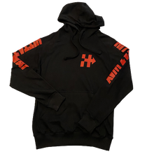 Load image into Gallery viewer, RIDING OR HIDING HOODIE (BLACK/RED)