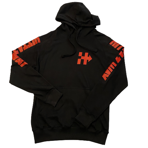 RIDING OR HIDING HOODIE (BLACK/RED)