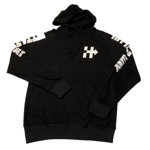RIDING OR HIDING HOODIE (BLACK/WHITE)