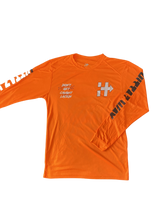 Load image into Gallery viewer, RIDING OR HIDING DRI-FIT LONG SLEEVE ORANGE