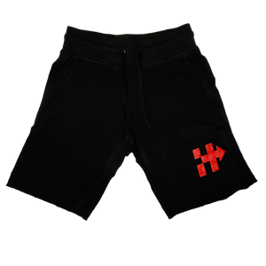 HITTAZ WAY 🏁 SHORTS (BLACK/RED)
