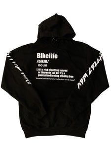 BIKELIFE DEFINITION 🏁 HOODIE BLACK / WHITE