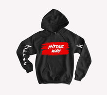 Load image into Gallery viewer, DON'T GET CAUGHT LACKIN LIMITED HOODIE BLACK/RED/WHITE
