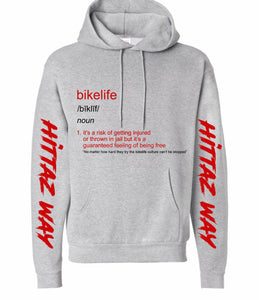 Bikelife Definition Hoodie Grey