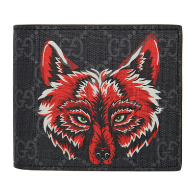 88ac5eeb1c7b Men's Gucci GG Supreme Wallet With Wolf - Members Only Lux