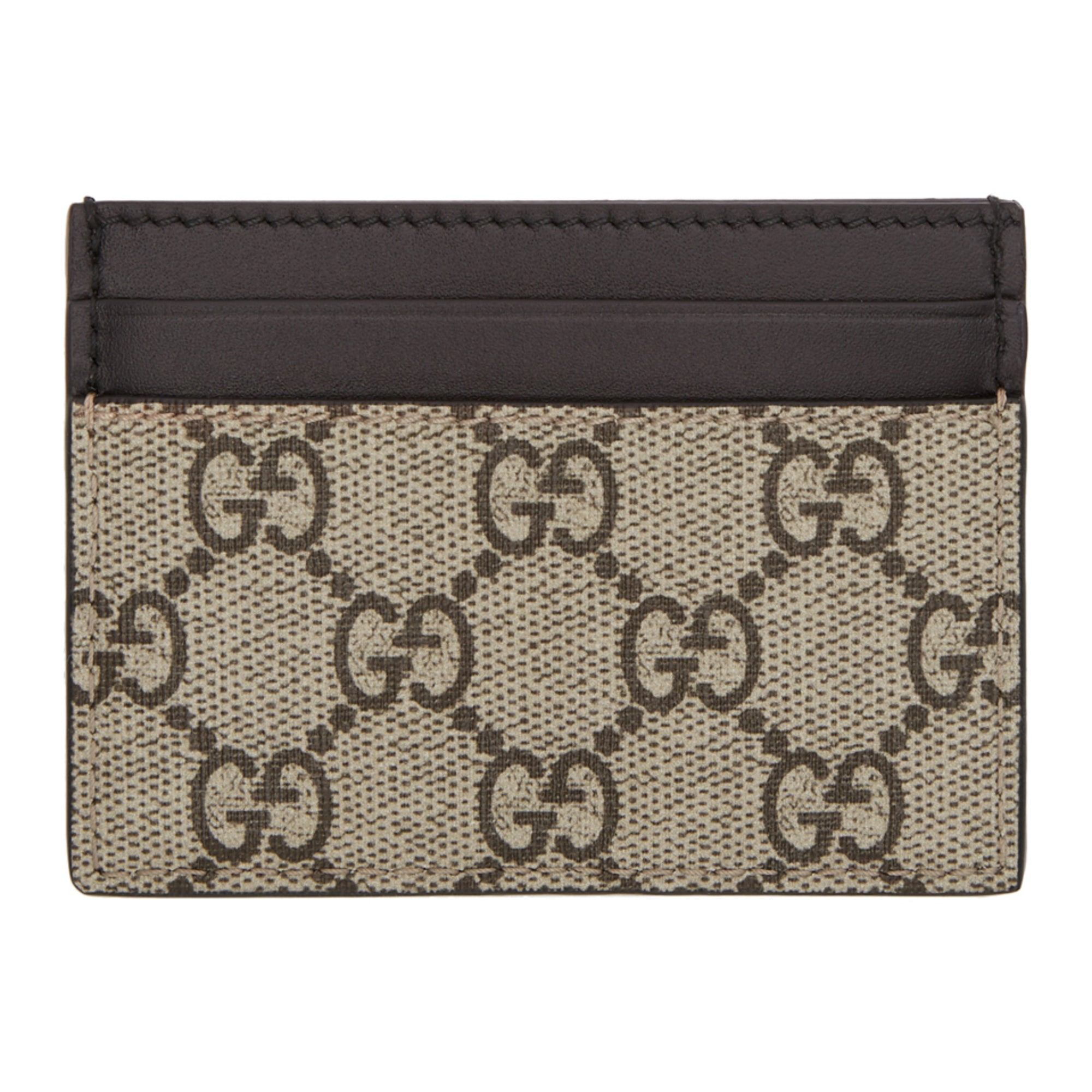 8428d6ea1503 Men's Gucci Bee Print GG Supreme Card Case - Members Only Lux