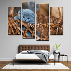 Cat 4-Piece Canvas Wall Art Set